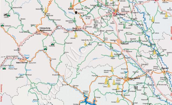 taxi gura humorului harta turistica
